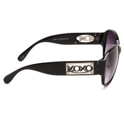 XOXO Women's 'Genesis Black' Fashion Sunglasses