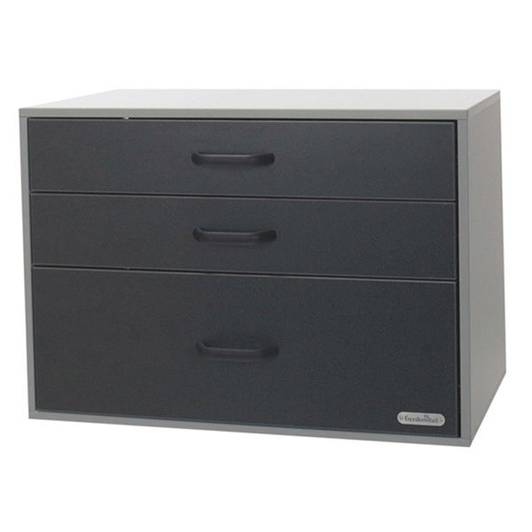 Organized Living freedomRail GO-Cabinet Granite 3-drawer Garage Cabinet