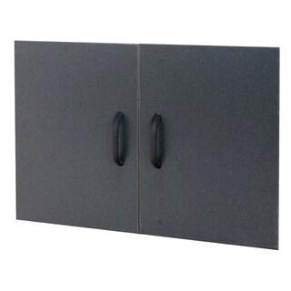 Organized Living freedomRail GO-Box Granite Grey Shelf Doors (Pack of 2)