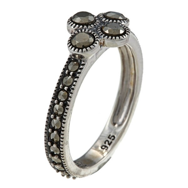 MARC Sterling Silver Pave-set Marcasite Ring 8673903