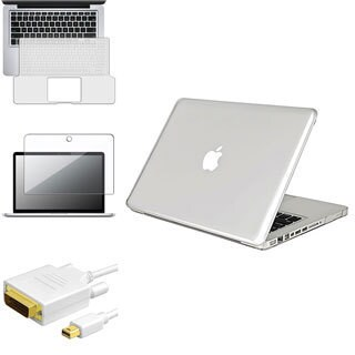 INSTEN Laptop Case Cover/ Screen Protector/ Keyboard Shield/ Cable for Apple MacBook Pro