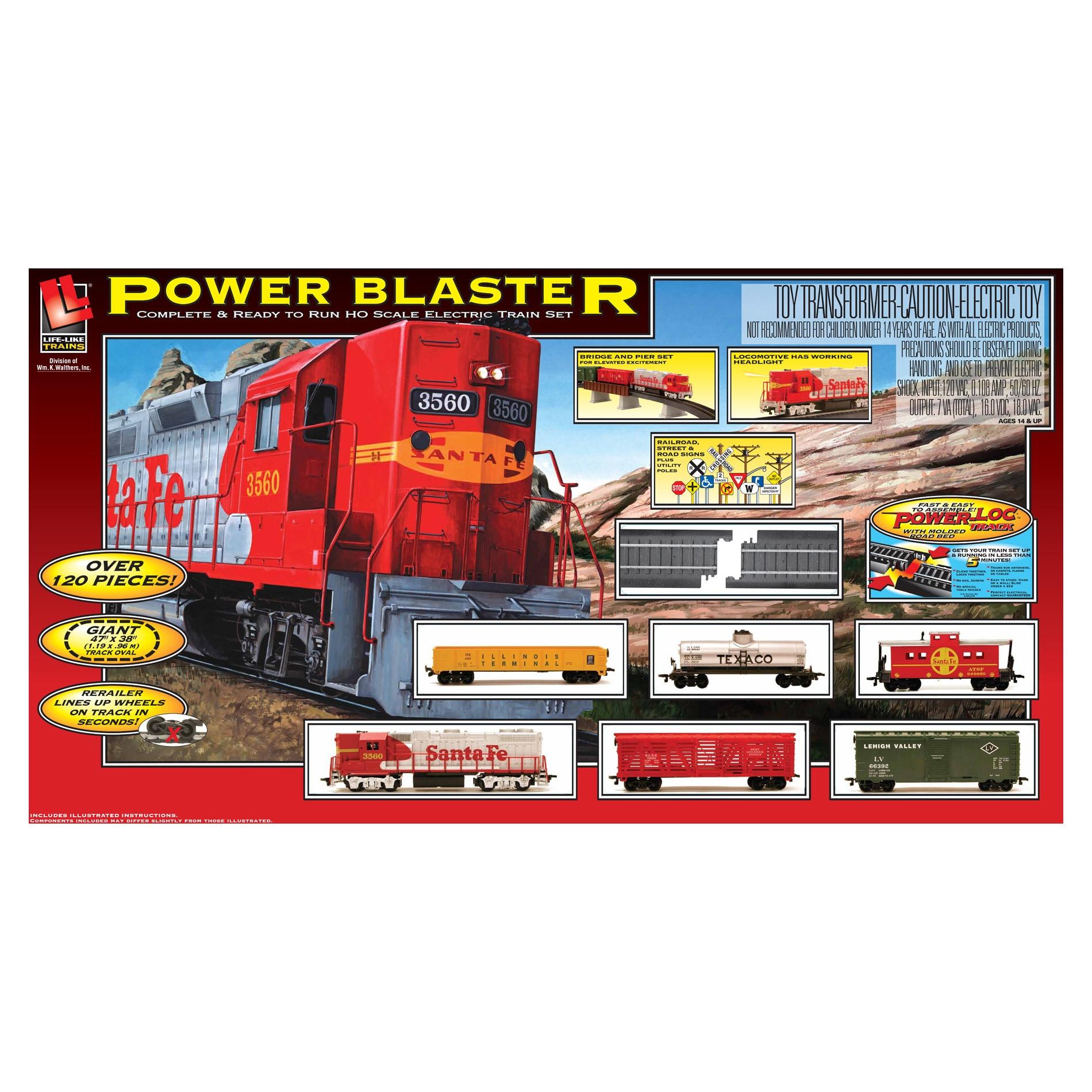 Power Blaster Electric Train Set