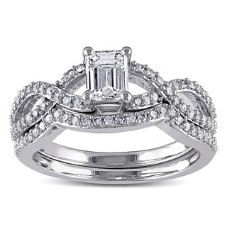 Miadora Signature Collection 14k White Gold 1ct TDW Diamond Ring Set (G-H, I1-I2)