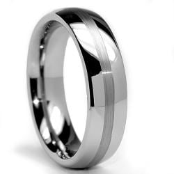 Men's Tungsten Carbide Men's Polished and Brushed Dome Ring (6 mm)