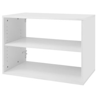 Organized Living freedomRail Big O-Box White Shelf Unit