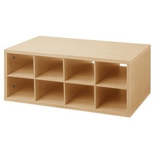 Organized Living freedomRail O-Box Maple Double Hanging Cubby