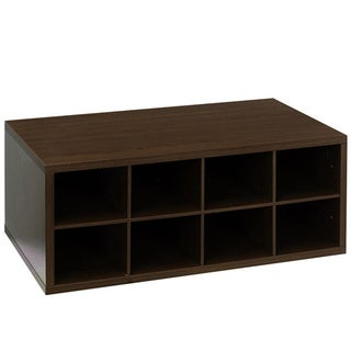 Organized Living freedomRail Double Hang O-Box Chocolate Pear Cubby