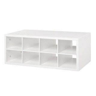 Organized Living freedomRail Double Hang O-Box White Cubby