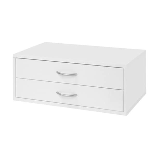 Organized Living freedomRail O-Box White 2-Drawer Hanging Closet Organizer