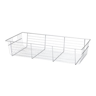 Organized Living freedomRail 6-inch Chrome Basket with Glide