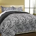 Super Soft Zebra Print Microfiber Down Alternative 3-piece Comforter Set