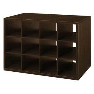 Organized Living freedomRail Chocolate Pear O-Box Shoe Cubby