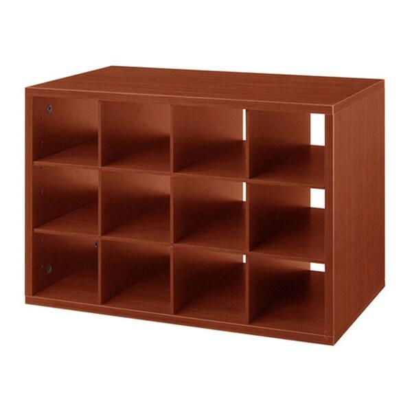 Organized Living freedomRail Chery-Wood O-Box Cubby