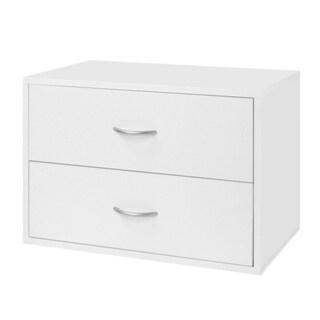 Organized Living freedomRail White O-Box 2-Drawer Storage