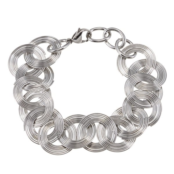 Stainless Steel Multi-circle Fashion Wire Bracelet