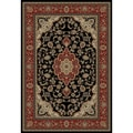 Medallion Kashan Black Area Rug (5'3 x 7'3)