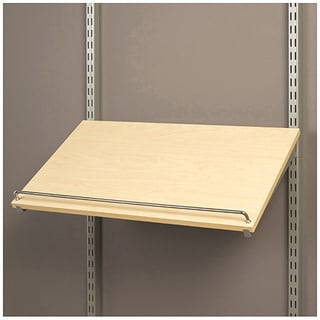Organized Living freedomRail Pre-Drilled Maple Shoe Shelf (20x14)