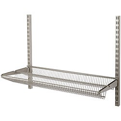 Organized Living freedomRail 30-inch Nickel Tiered Ventilated Shelf