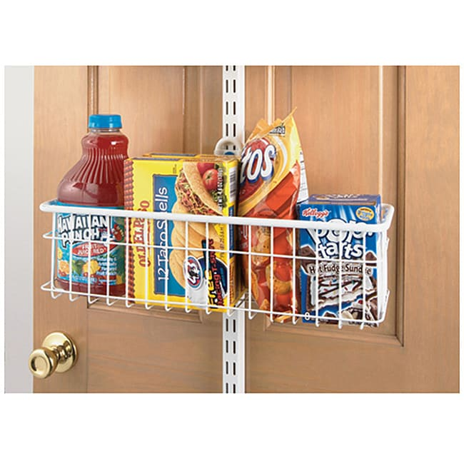 Organized Living freedomRail Over the Door White Basket (18 x 6)