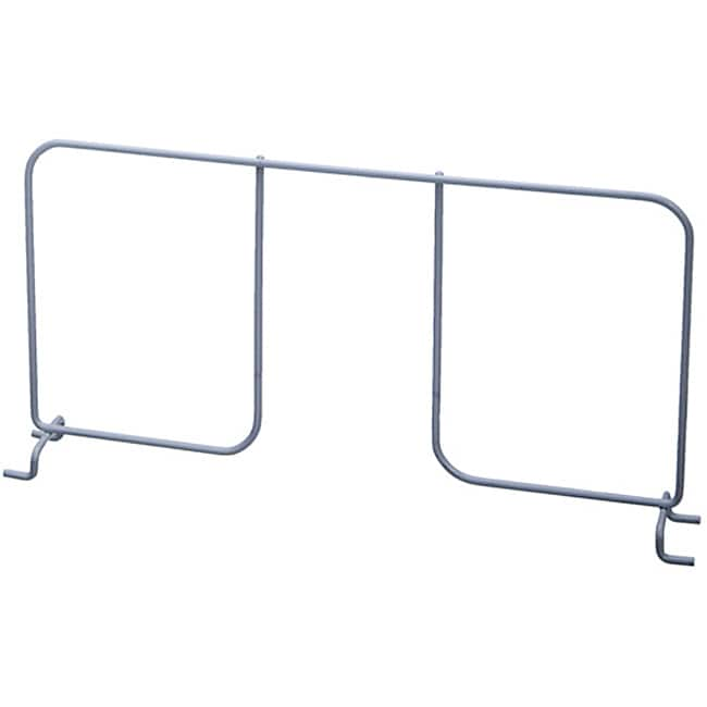 Organized Living freedomRail Nickel Ventilated 16-inch Shelf Divider