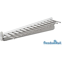 Organized Living freedomRail White Sliding Tie and Belt Rack