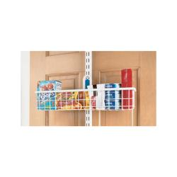 Organized Living freedomRail White Over-the-Door Basket (18 x 4)