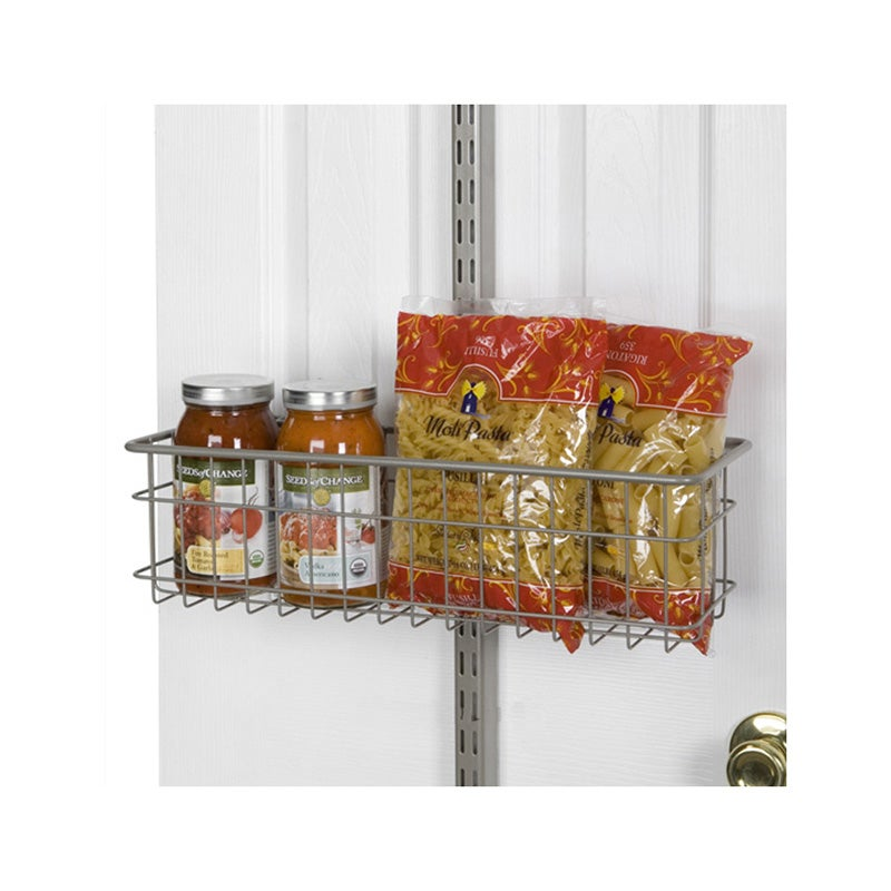Organized Living freedomRail Nickel Over-the-Door Basket (18 x 6)