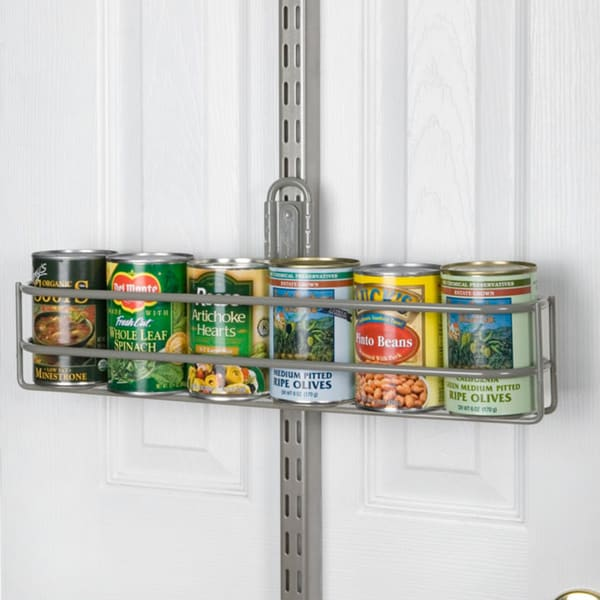 Organized Living freedomRail Nickel Over-the-Door Can Holder
