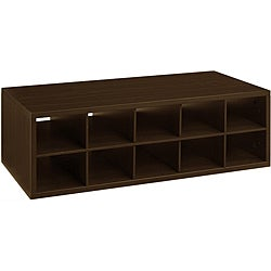 Organized Living freedomRail Double Hang Chocolate Pear 'Big-O-Box' Cubby