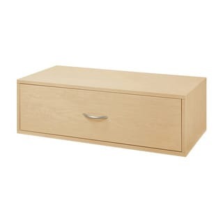 Organized Living freedomRail Maple 'Big-O-Box' 1-drawer Modular Cabinet