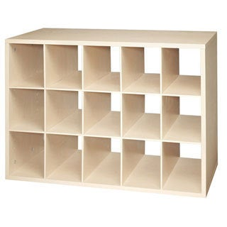 Organized Living freedomRail Maple 'Big O-Box' Cubby
