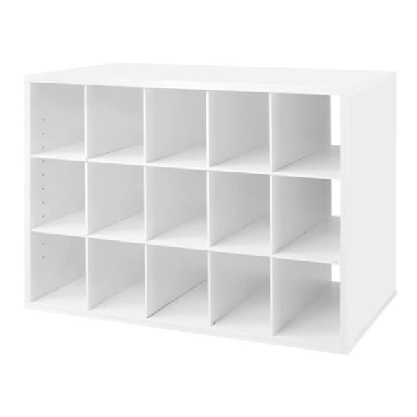 Organized Living freedomRail White 'Big O-Box' Cubby