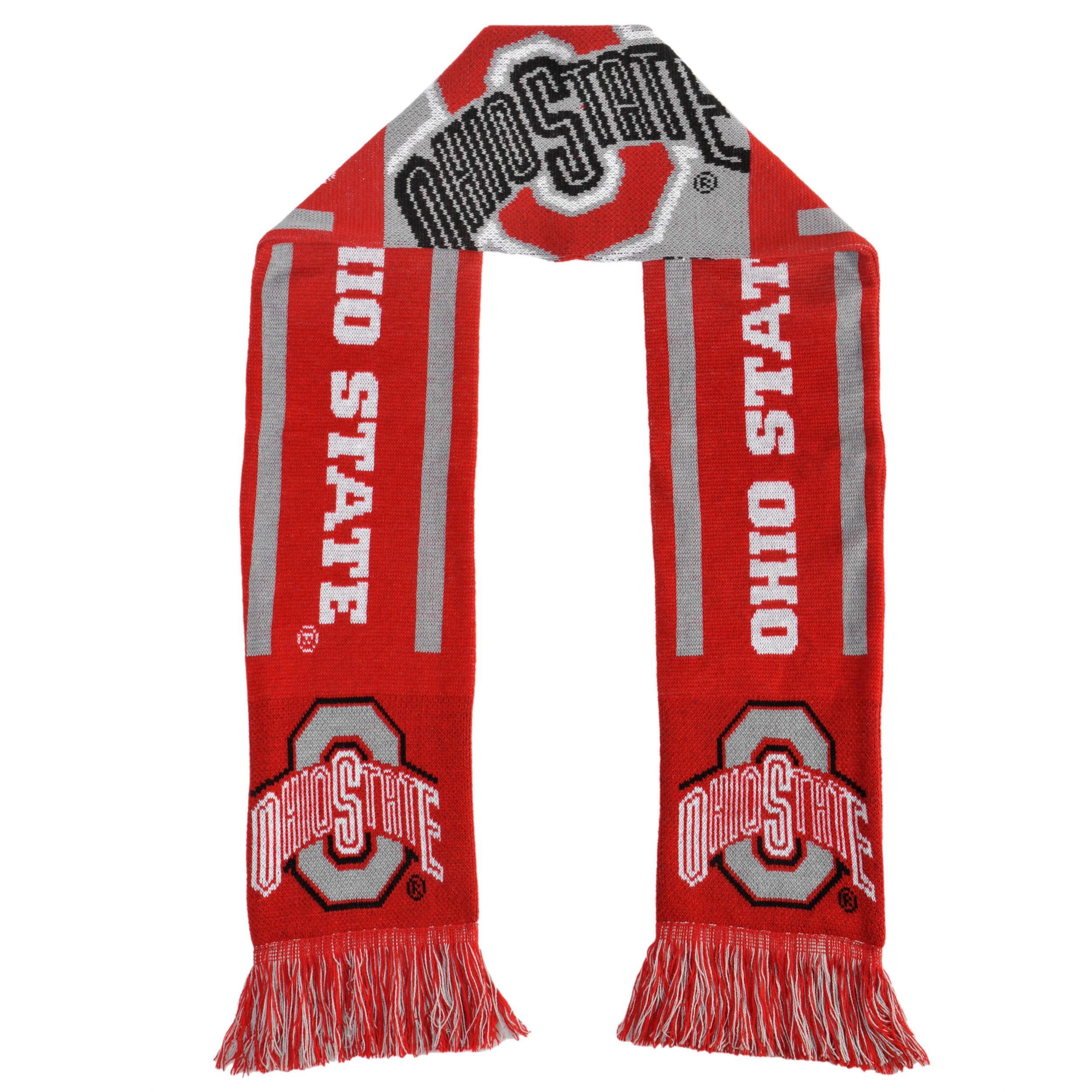 Forever Collectibles Ohio State Buckeyes All-acrylic NCAA Scarf