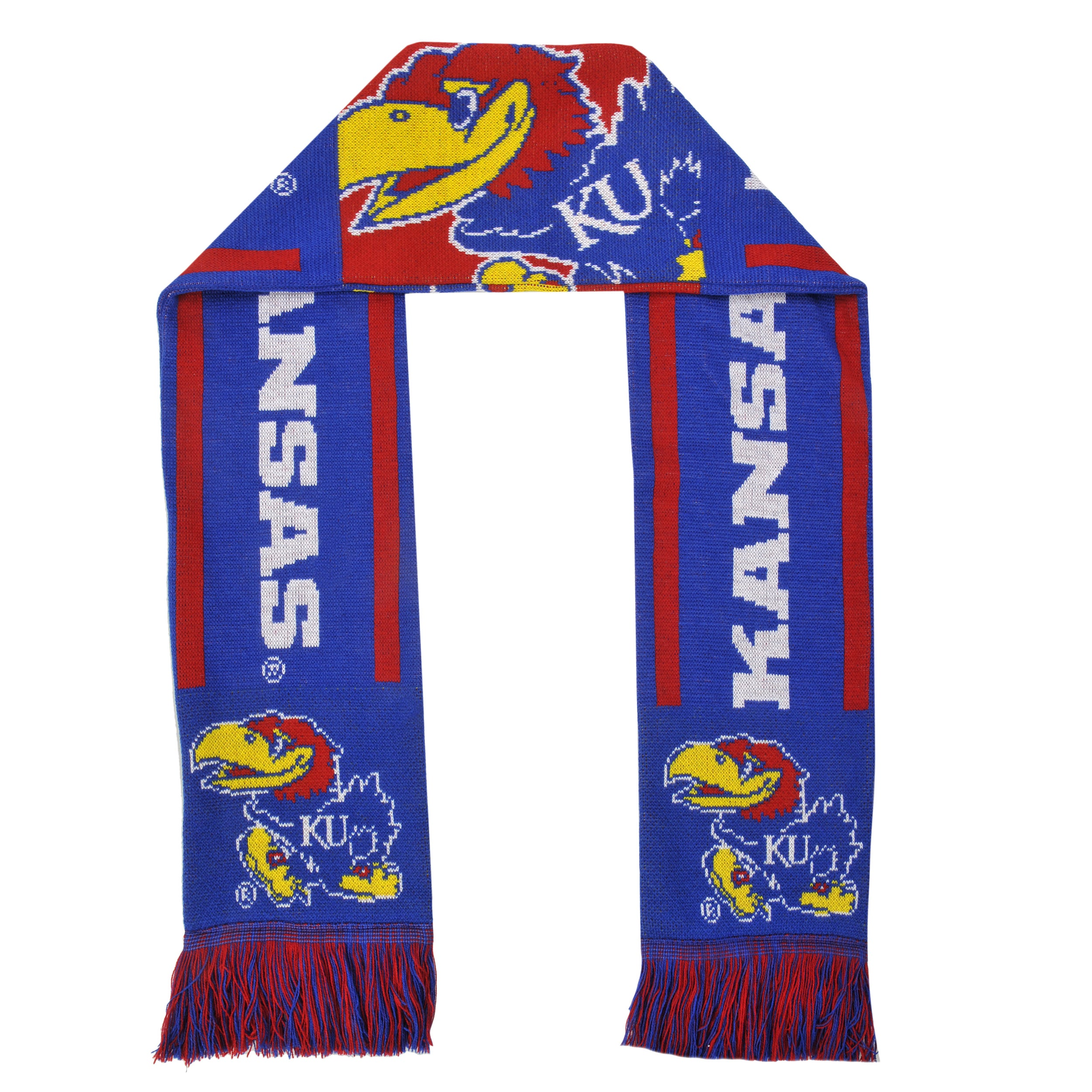Forever Collectibles Kansas Jayhawks Acrylic NCAA Scarf