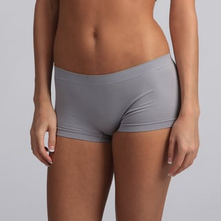 Jennifer Intimates Women's Gray Pull-On Boyshorts