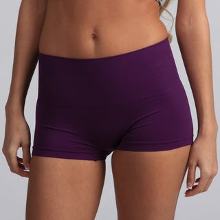 Jennifer Intimates Women's Purple High Waist Boyshorts