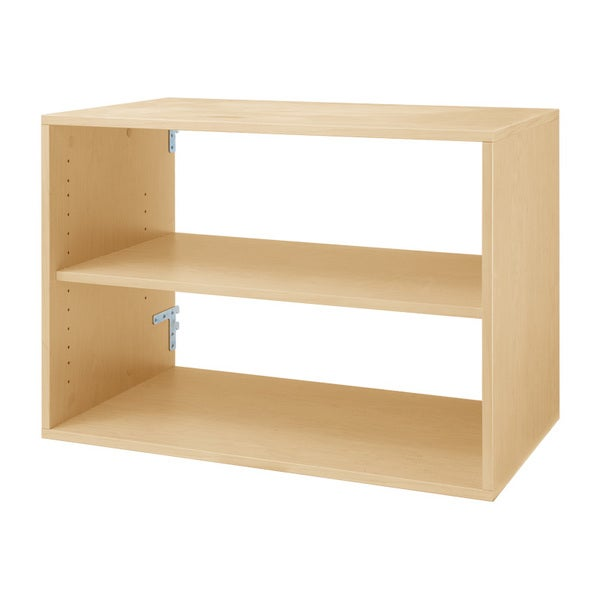 Organized Living freedomRail Maple 'Big O-Box' Shelf Unit
