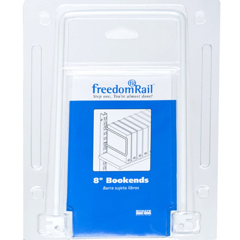 Organized Living freedomRail 8-inch Bookends