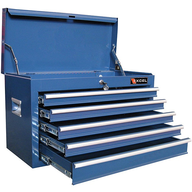 Excel 26 Inch Five Ball Bearing Slide Drawers Top Tool