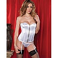 Seven Til' Midnight Perfectly Polished White Corset and Thong