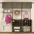 Organized Living freedomRail 36-inch Nickel Rail