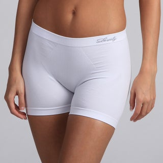 Women's White Lingerie Boyshorts