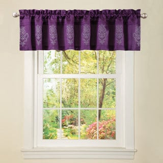 Lush Decor Plum Grey 15-inch Delila Valance