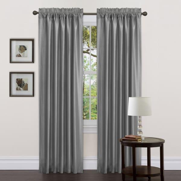 Lush Decor Gray Delila 84-inch Curtain Panels (Set of 2)