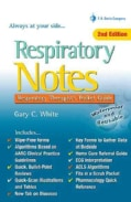Respiratory Notes: Respiratory Therapist's Pocket Guide (Paperback)