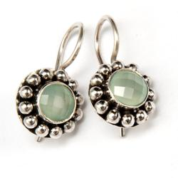 Sterling Silver Aquamarine Earrings (India)
