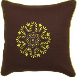 Mildura Chocolate/ Lime Down Decorative Pillow