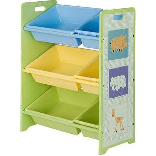 Toy Storage Unit with Six Tubs