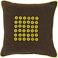Adelaide Chocolate/ Lime Button Decorative Pillow