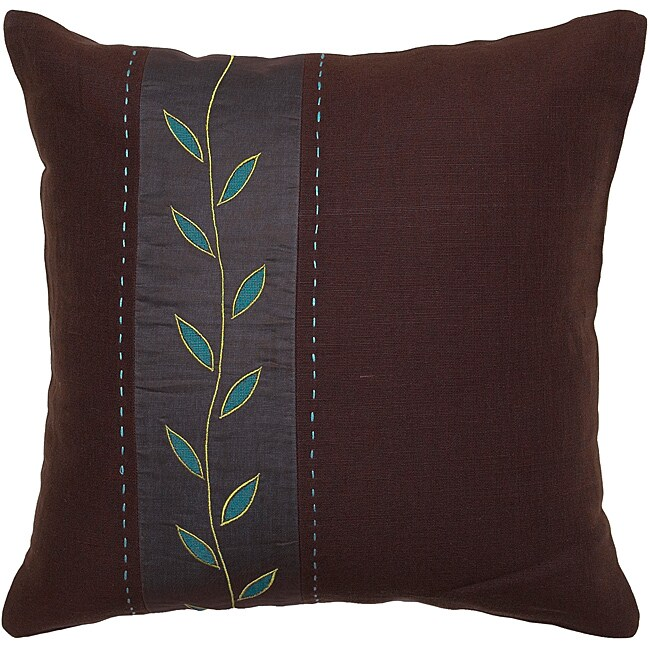 Gizeh Chocolate/ Aqua Vine Decorative Pillow